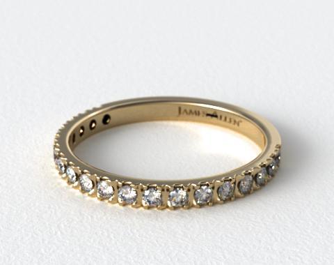 wedding rings womens diamond yellow gold nouveau pave ring item