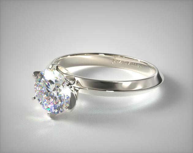 Flat Simple Engagement Ring Sets Low Profile